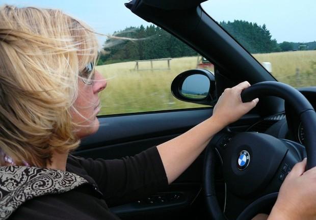 woman car driving